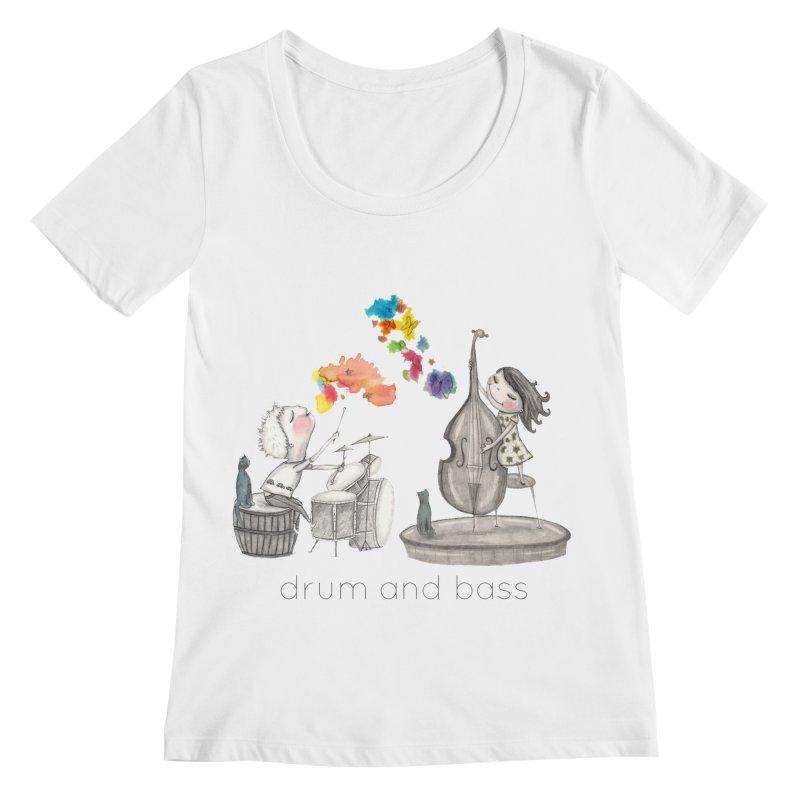 Drum and Bass Women's Regular Scoop Neck by caratoons's Shop