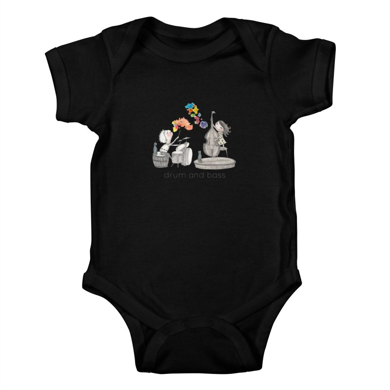 Drum and Bass Kids Baby Bodysuit by caratoons's Shop