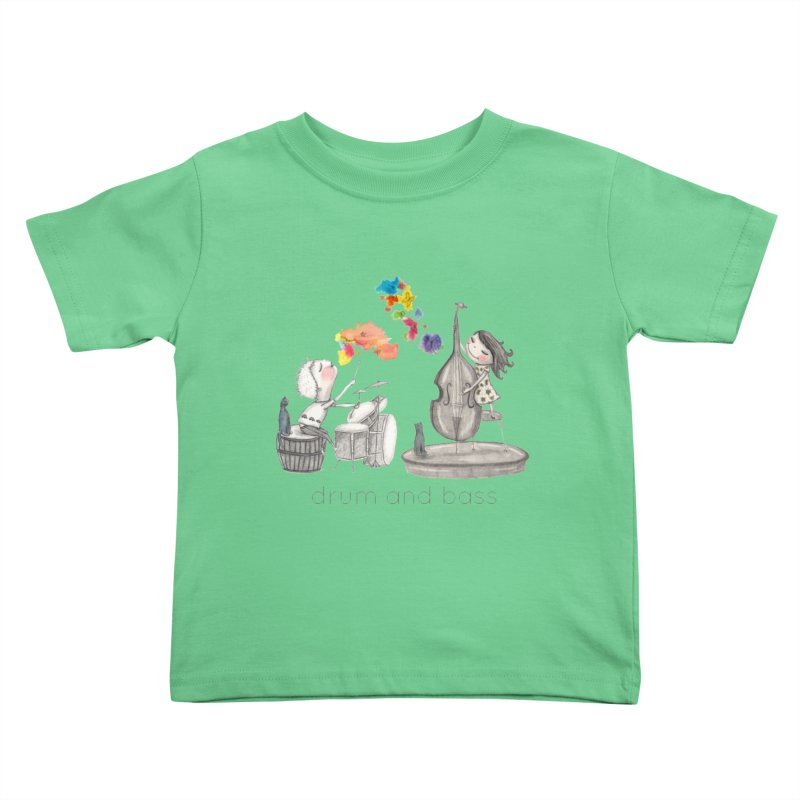 Drum and Bass Kids Toddler T-Shirt by caratoons's Shop