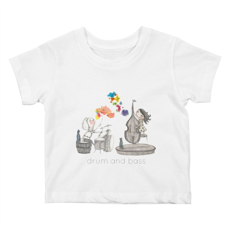 Drum and Bass Kids Baby T-Shirt by caratoons's Shop