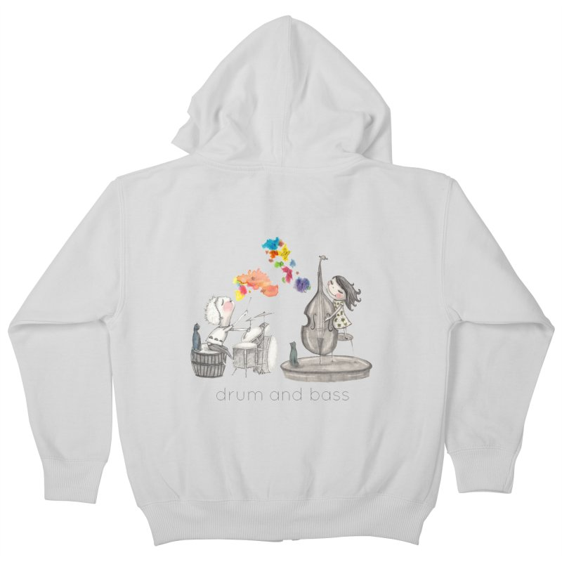 Drum and Bass Kids Zip-Up Hoody by caratoons's Shop