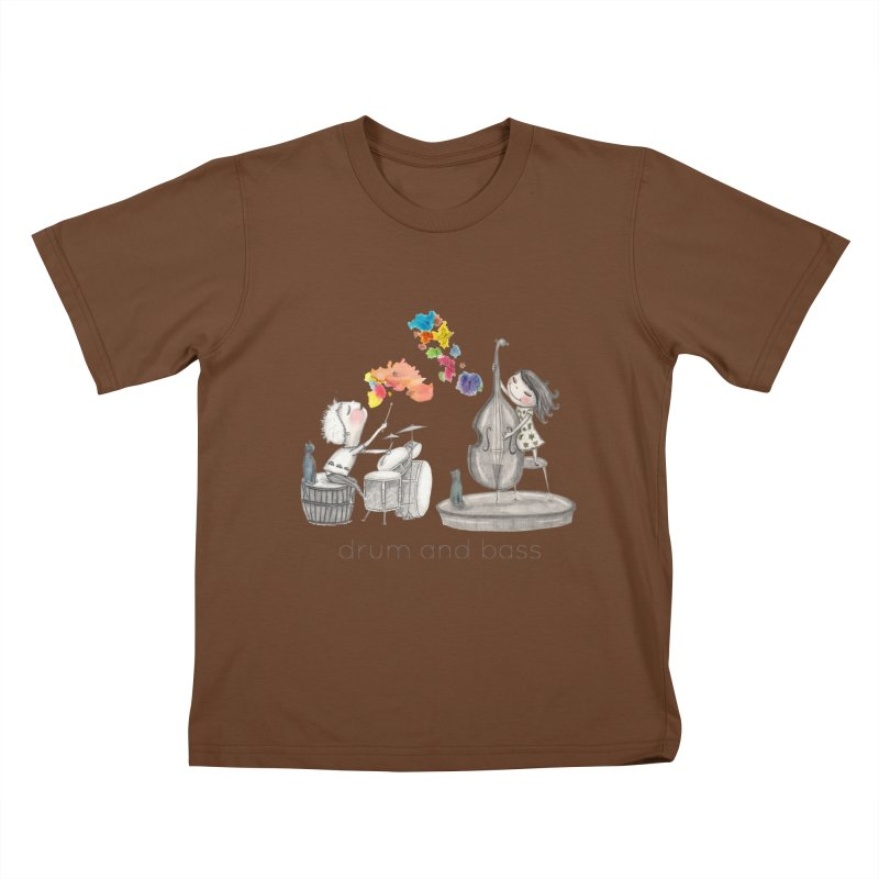 Drum and Bass Kids T-Shirt by caratoons's Shop