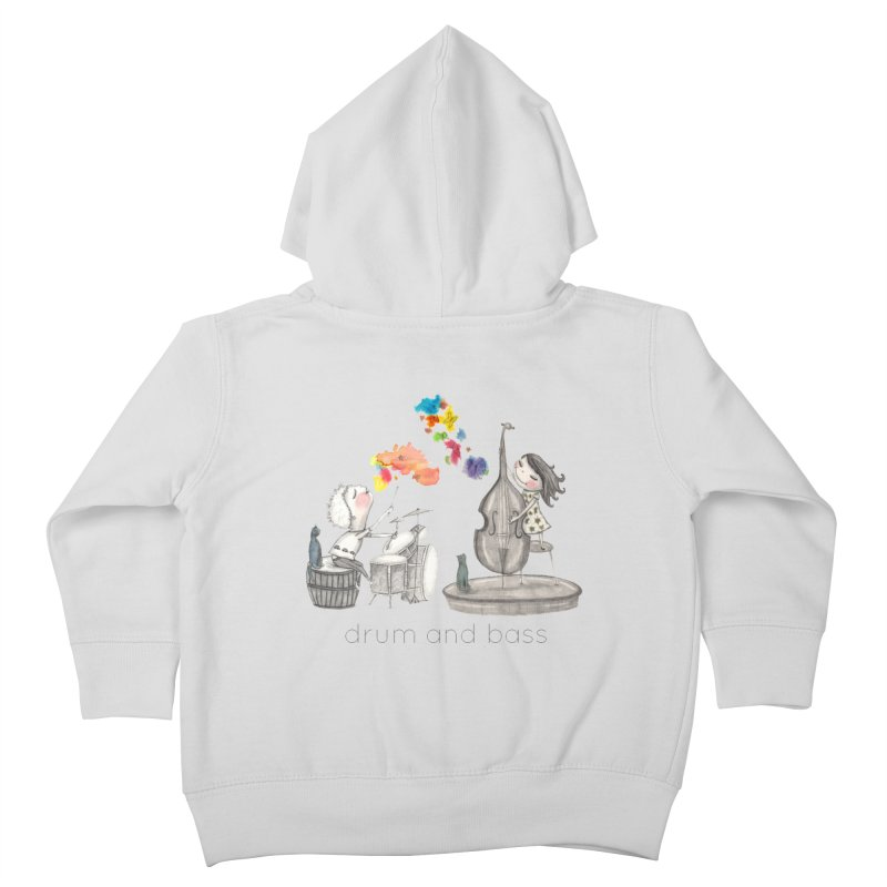 Drum and Bass Kids Toddler Zip-Up Hoody by caratoons's Shop