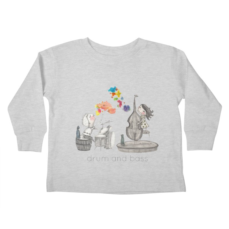 Drum and Bass Kids Toddler Longsleeve T-Shirt by caratoons's Shop