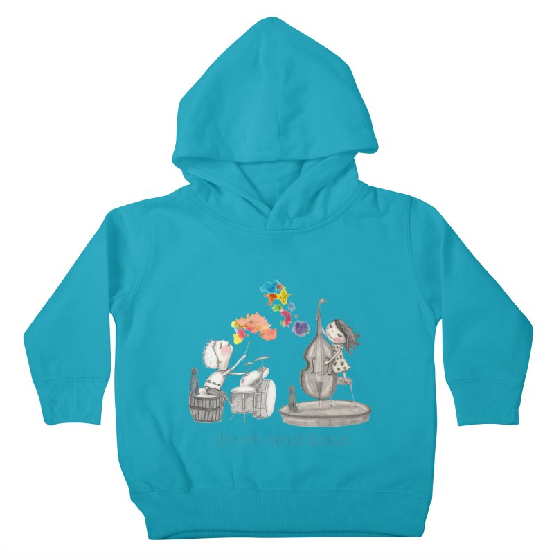 Drum and Bass Kids Toddler Pullover Hoody by caratoons's Shop