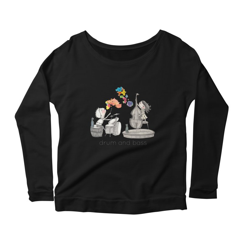 Drum and Bass Women's Longsleeve Scoopneck  by caratoons's Shop