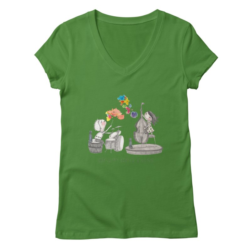 Drum and Bass Women's V-Neck by caratoons's Shop