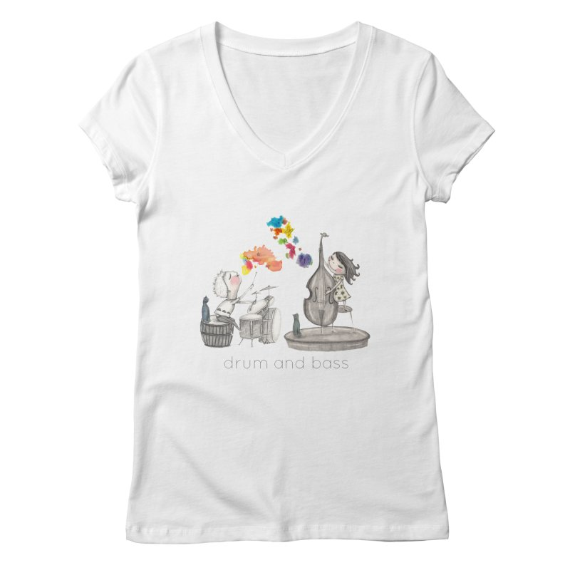 Drum and Bass Women's Regular V-Neck by caratoons's Shop