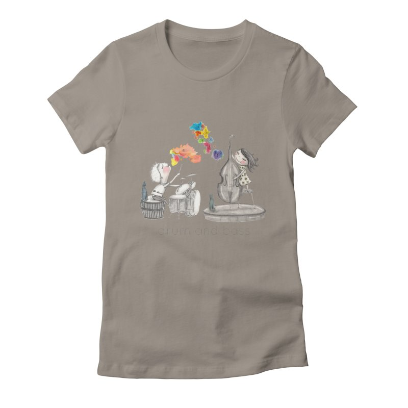 Drum and Bass Women's Fitted T-Shirt by caratoons's Shop