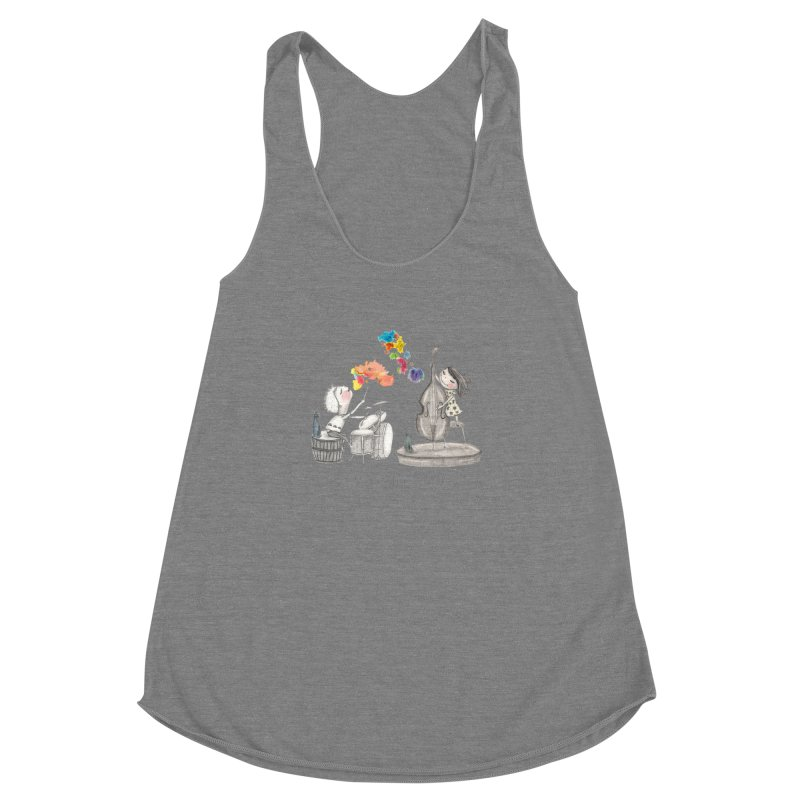 Drum and Bass Women's Racerback Triblend Tank by caratoons's Shop