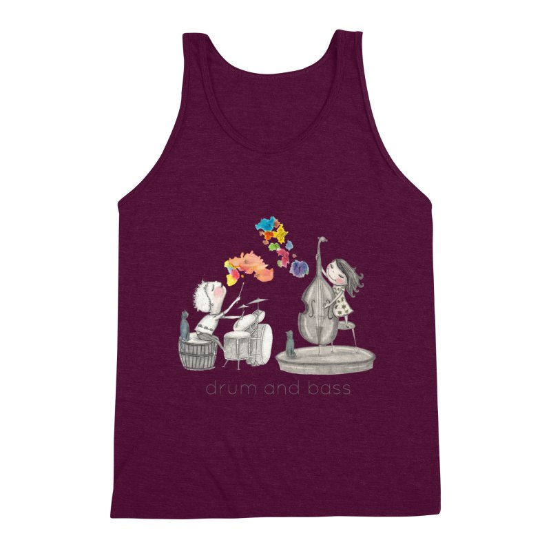Drum and Bass Men's Triblend Tank by caratoons's Shop