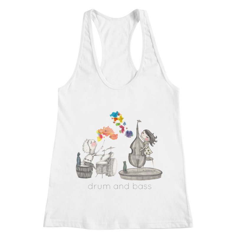 Drum and Bass Women's Racerback Tank by caratoons's Shop