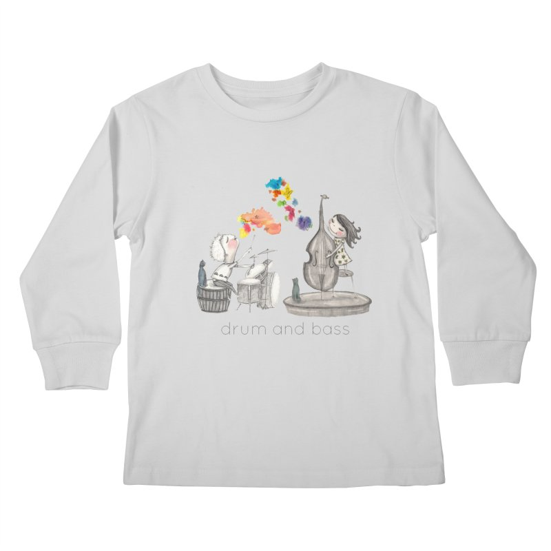 Drum and Bass Kids Longsleeve T-Shirt by caratoons's Shop