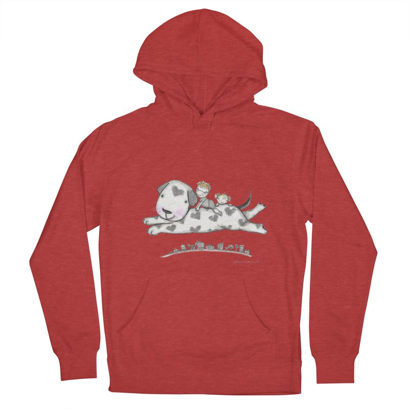 Big Dog Adventure Women's French Terry Pullover Hoody by caratoons's Shop