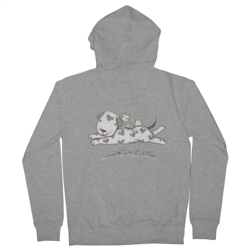 Big Dog Adventure Women's French Terry Zip-Up Hoody by caratoons's Shop