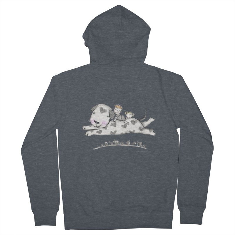 Big Dog Adventure Men's French Terry Zip-Up Hoody by caratoons's Shop