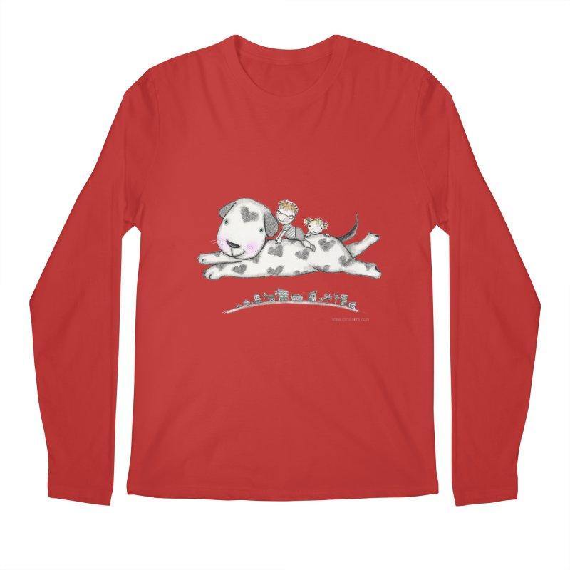 Big Dog Adventure Men's Regular Longsleeve T-Shirt by caratoons's Shop