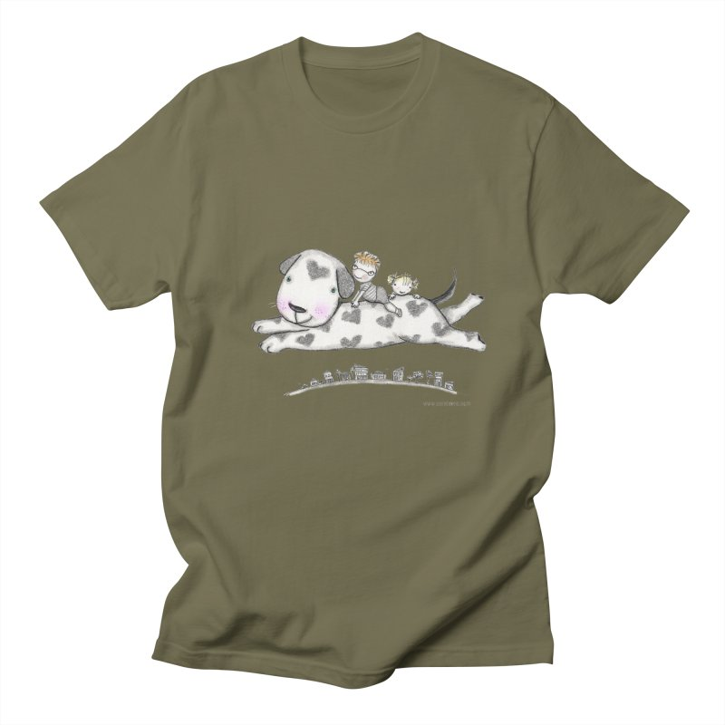 Big Dog Adventure Men's T-shirt by caratoons's Shop
