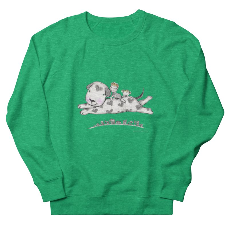 Big Dog Adventure Women's French Terry Sweatshirt by caratoons's Shop
