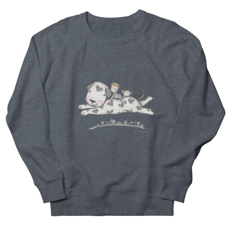 Big Dog Adventure Men's French Terry Sweatshirt by caratoons's Shop