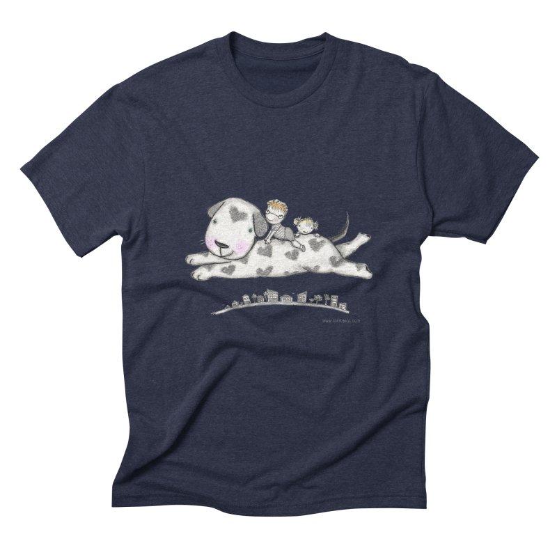 Big Dog Adventure Men's Triblend T-Shirt by caratoons's Shop