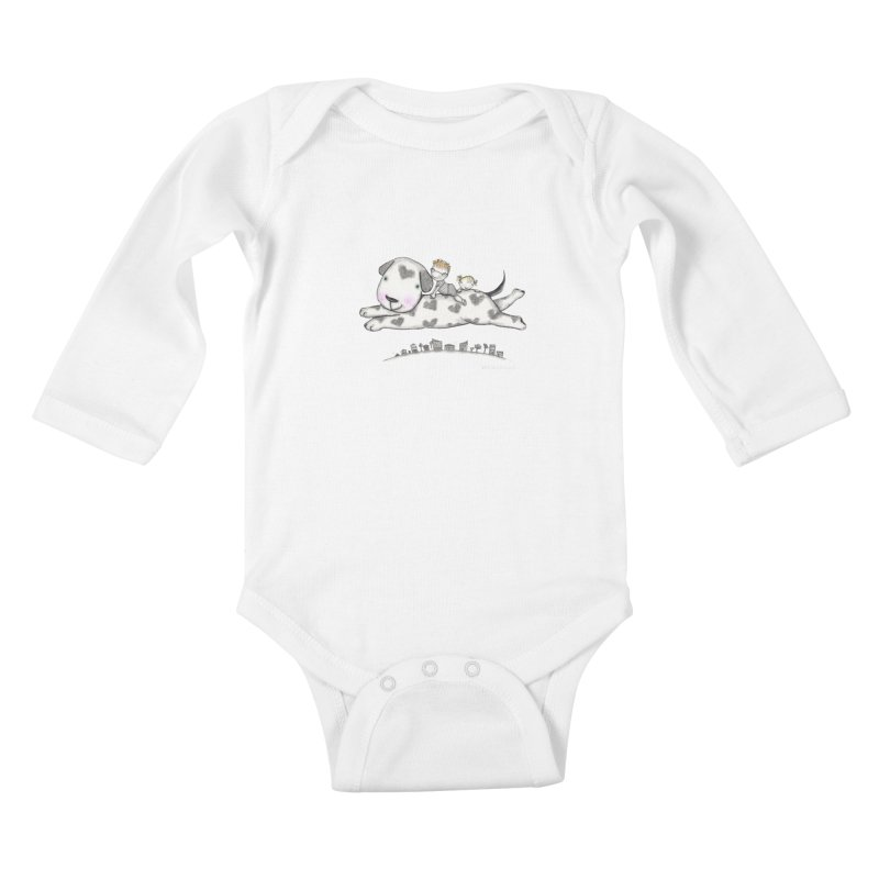 Big Dog Adventure Kids Baby Longsleeve Bodysuit by caratoons's Shop
