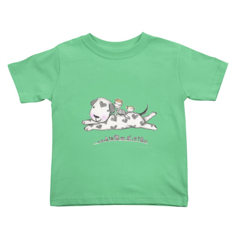 Big Dog Adventure Kids Toddler T-Shirt by caratoons's Shop
