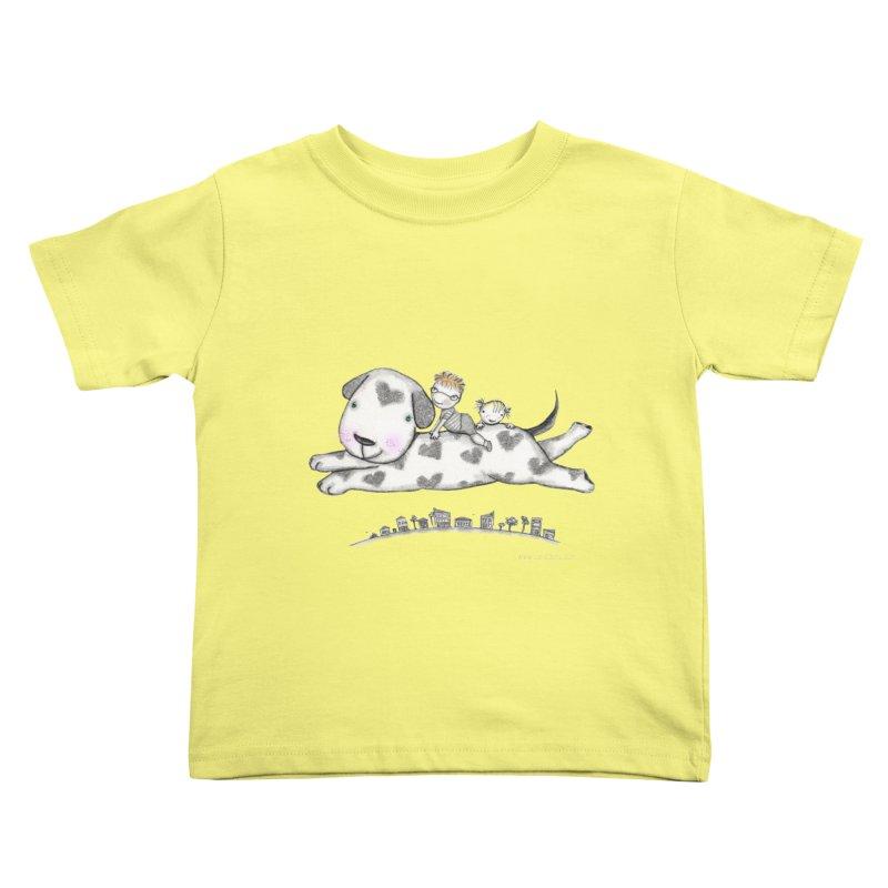 Big Dog Adventure Kids Toddler T-Shirt by caratoons's Shop