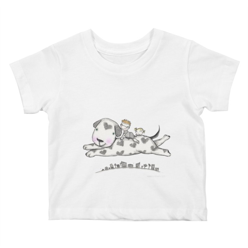 Big Dog Adventure Kids Baby T-Shirt by caratoons's Shop