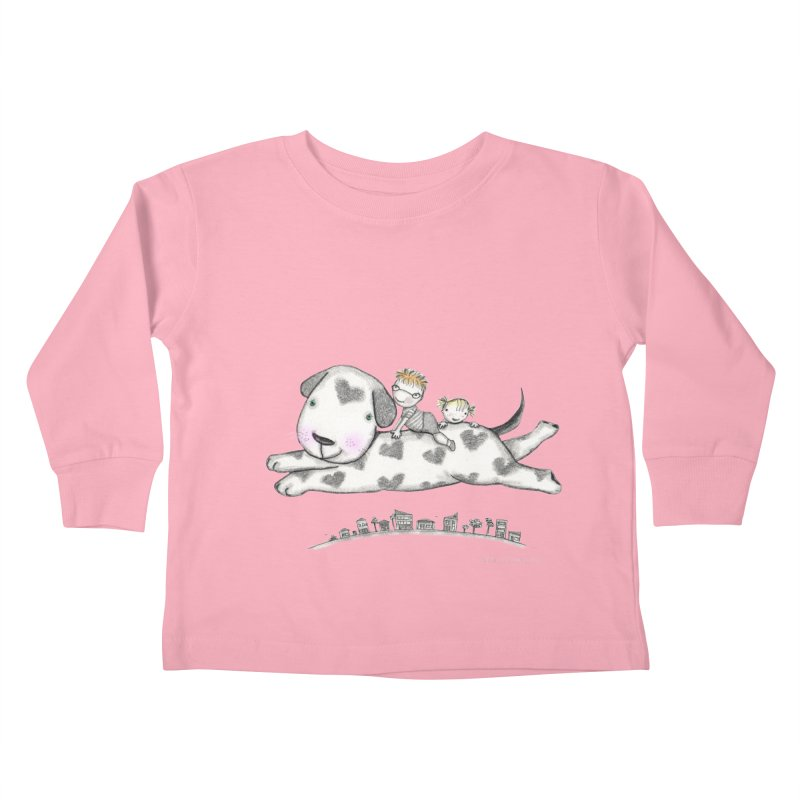 Big Dog Adventure Kids Toddler Longsleeve T-Shirt by caratoons's Shop
