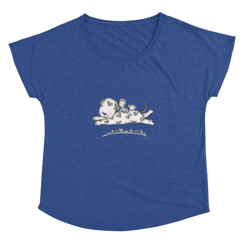 Big Dog Adventure Women's Dolman Scoop Neck by caratoons's Shop