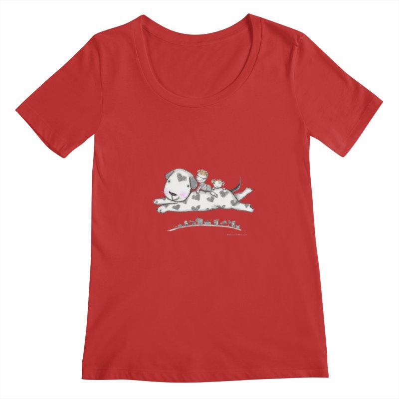 Big Dog Adventure Women's Regular Scoop Neck by caratoons's Shop