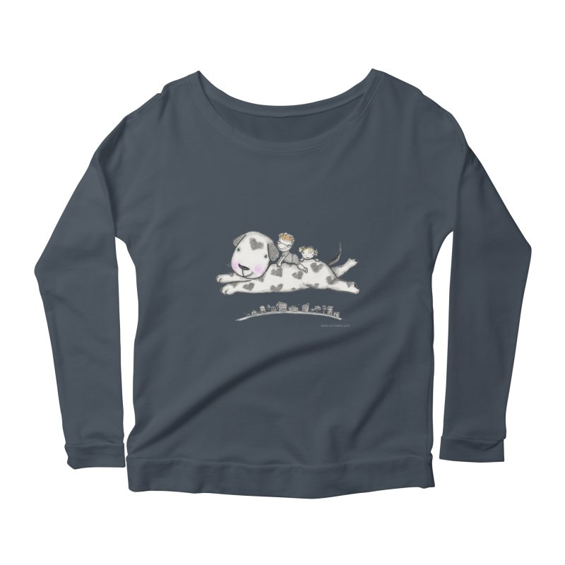 Big Dog Adventure Women's Scoop Neck Longsleeve T-Shirt by caratoons's Shop