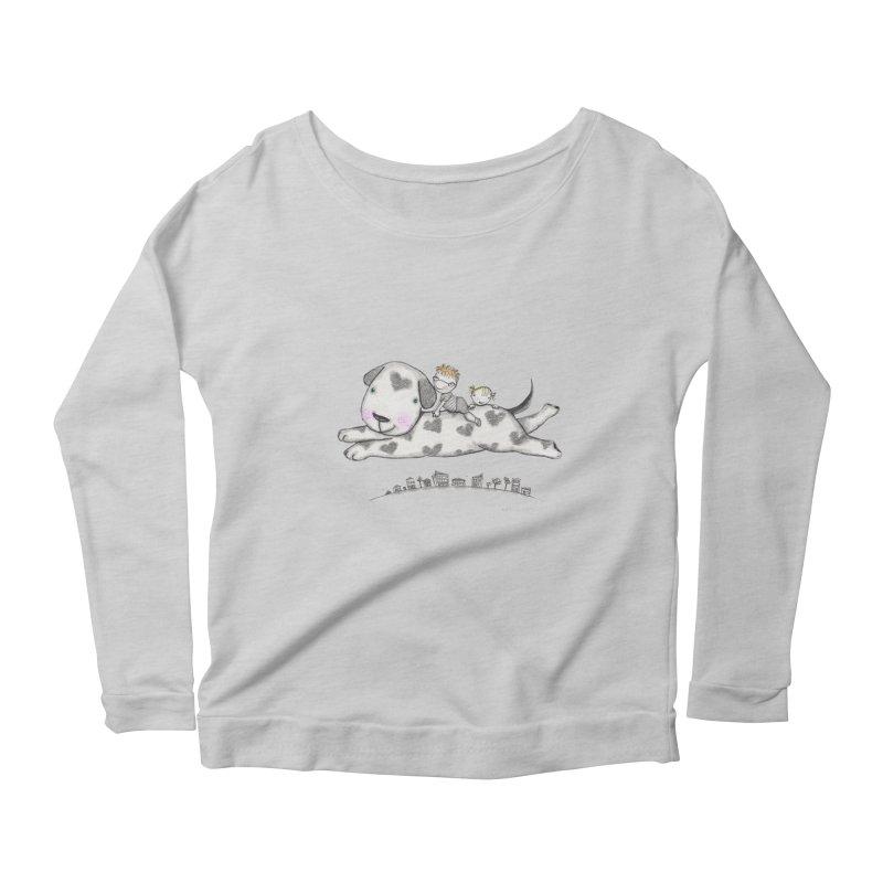 Big Dog Adventure Women's Scoop Neck Longsleeve T-Shirt by caratoons's Shop