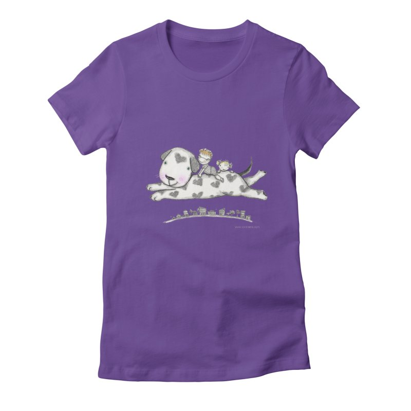 Big Dog Adventure Women's Fitted T-Shirt by caratoons's Shop