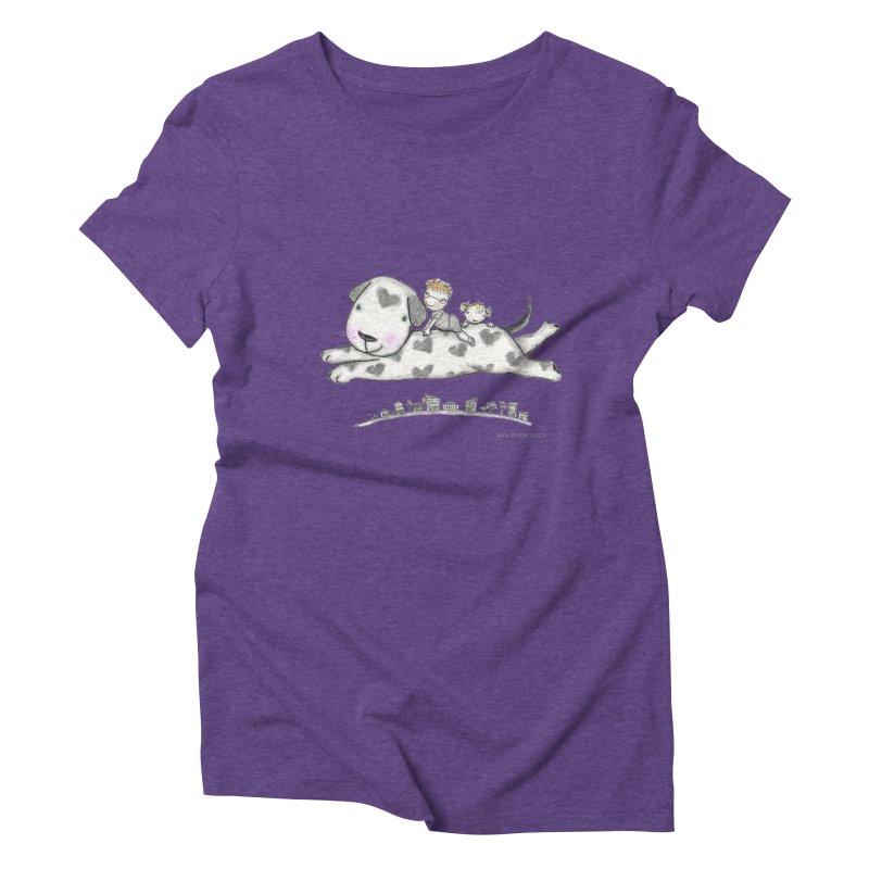 Big Dog Adventure Women's Triblend T-Shirt by caratoons's Shop