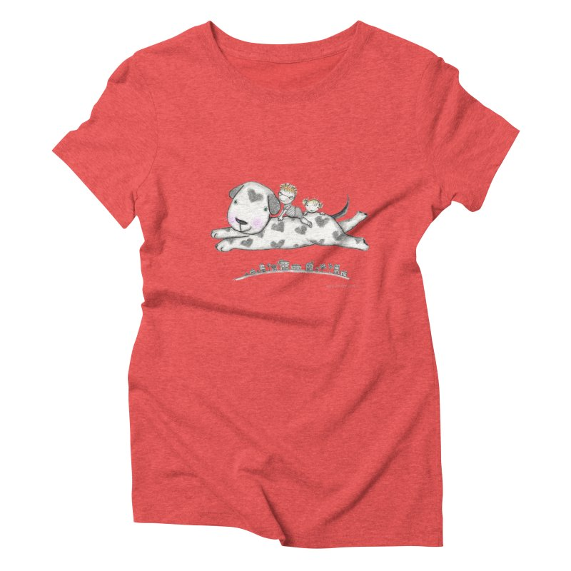 Big Dog Adventure Women's Triblend T-Shirt by caratoons's Shop