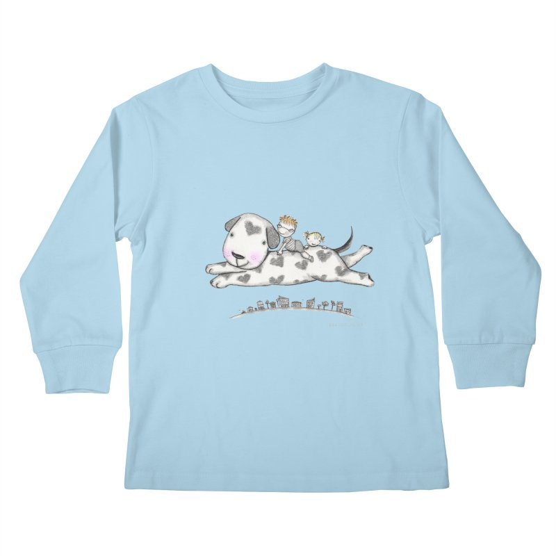 Big Dog Adventure Kids Longsleeve T-Shirt by caratoons's Shop
