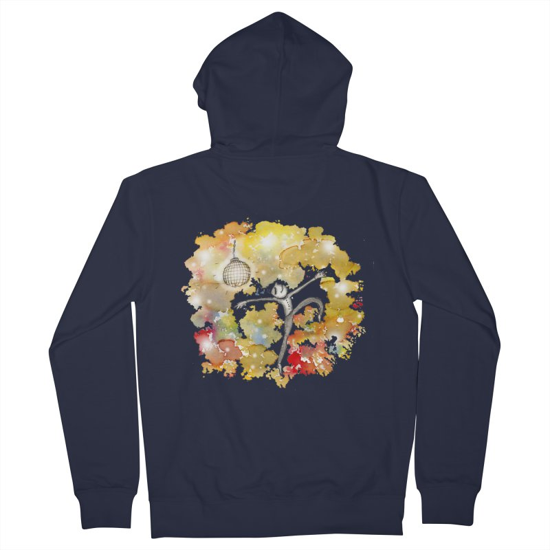 Disco Happy Men's French Terry Zip-Up Hoody by caratoons's Shop
