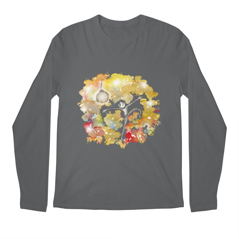 Disco Happy Men's Regular Longsleeve T-Shirt by caratoons's Shop