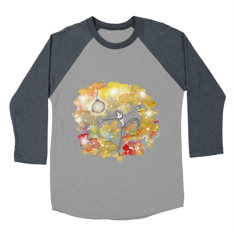 Disco Happy Men's Baseball Triblend T-Shirt by caratoons's Shop