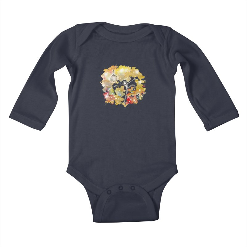 Disco Happy Kids Baby Longsleeve Bodysuit by caratoons's Shop