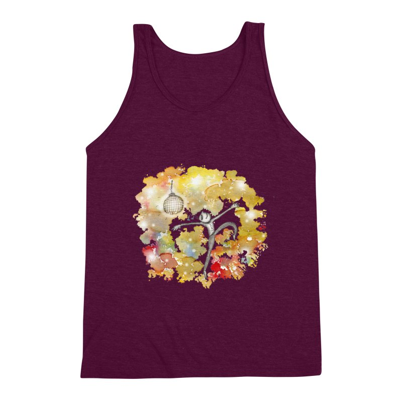 Disco Happy Men's Triblend Tank by caratoons's Shop