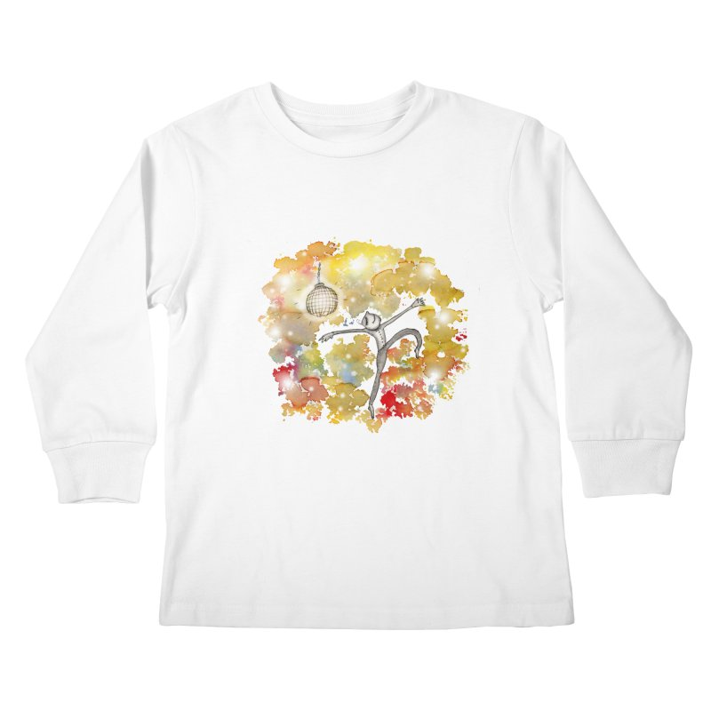 Disco Happy Kids Longsleeve T-Shirt by caratoons's Shop
