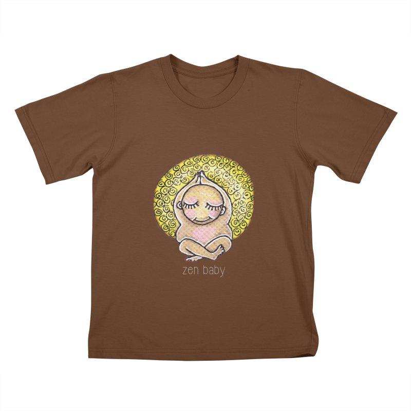 zen baby Kids T-shirt by caratoons's Shop