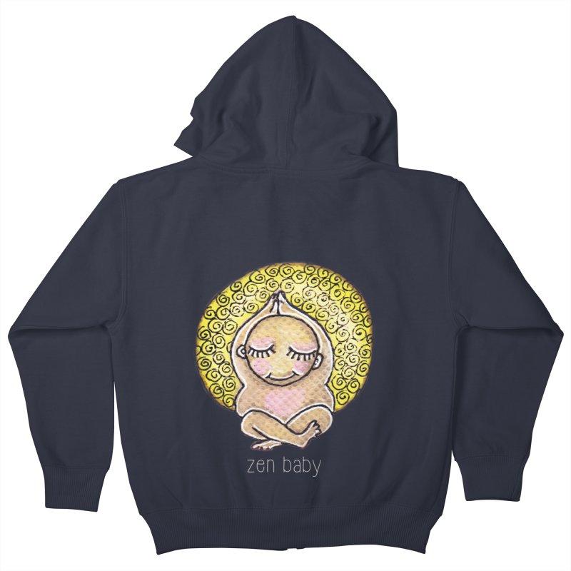 zen baby Kids Zip-Up Hoody by caratoons's Shop