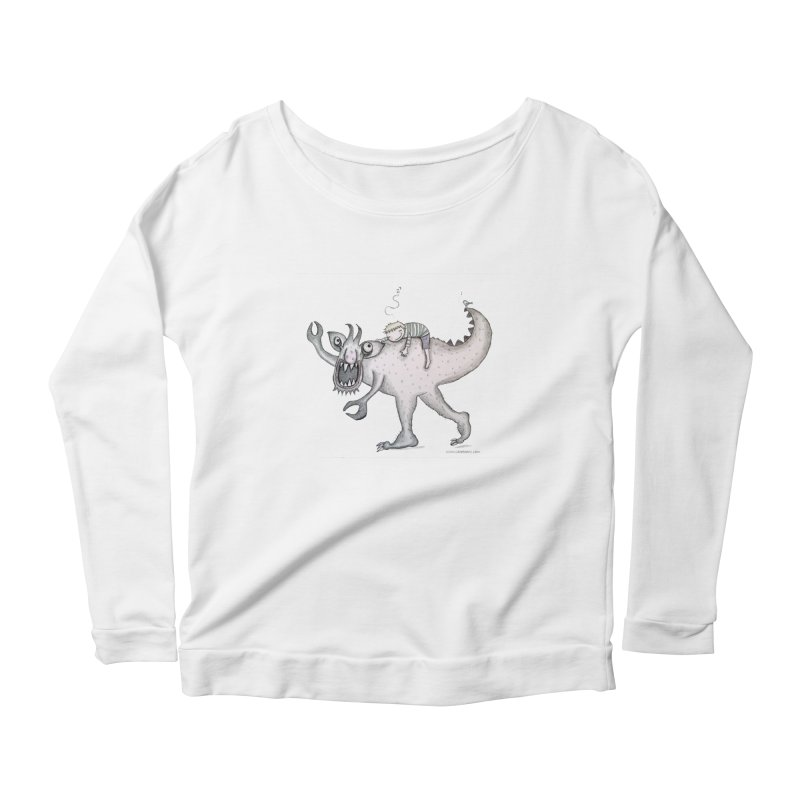 Marvellous monster of sleep Women's Scoop Neck Longsleeve T-Shirt by caratoons's Shop