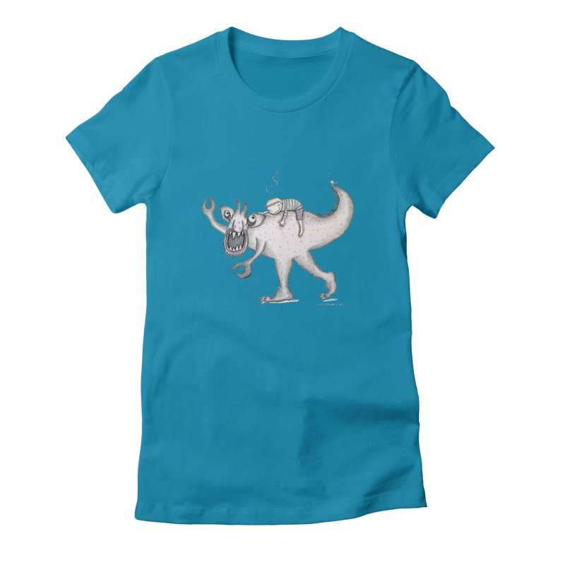 Marvellous monster of sleep Women's Fitted T-Shirt by caratoons's Shop