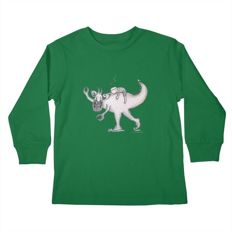 Marvellous monster of sleep Kids Longsleeve T-Shirt by caratoons's Shop