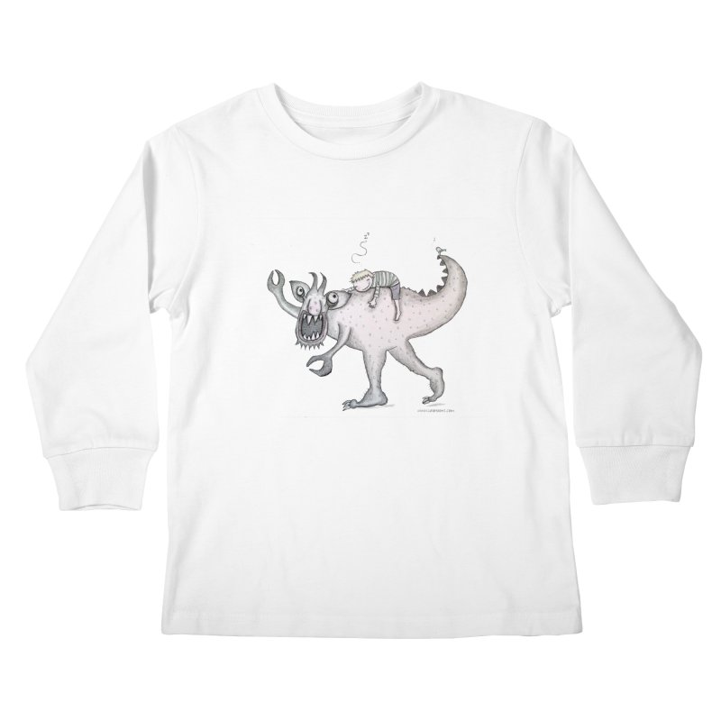 Marvellous monster of sleep Kids Longsleeve T-Shirt by caratoons's Shop